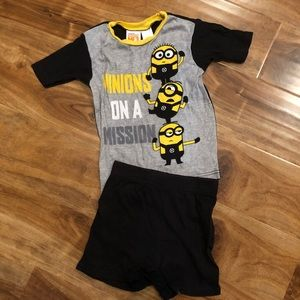 Other - 4 for $12 Boys size 6 Minions PJ set short/t-shirt